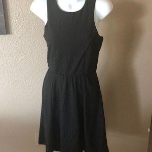 Maurices sz small black dress with stretch waist